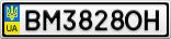Номерной знак - BM3828OH