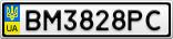 Номерной знак - BM3828PC