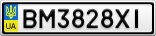 Номерной знак - BM3828XI