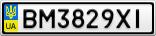 Номерной знак - BM3829XI
