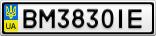 Номерной знак - BM3830IE