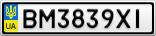 Номерной знак - BM3839XI
