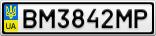 Номерной знак - BM3842MP
