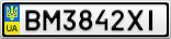 Номерной знак - BM3842XI