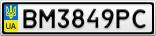 Номерной знак - BM3849PC