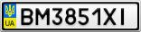 Номерной знак - BM3851XI