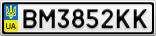 Номерной знак - BM3852KK