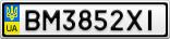 Номерной знак - BM3852XI