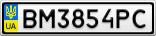 Номерной знак - BM3854PC