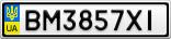 Номерной знак - BM3857XI