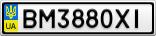 Номерной знак - BM3880XI