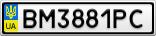 Номерной знак - BM3881PC