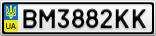 Номерной знак - BM3882KK
