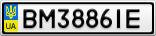 Номерной знак - BM3886IE
