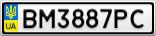 Номерной знак - BM3887PC