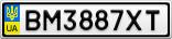 Номерной знак - BM3887XT