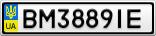 Номерной знак - BM3889IE