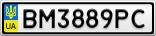 Номерной знак - BM3889PC