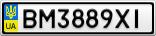 Номерной знак - BM3889XI