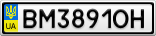 Номерной знак - BM3891OH