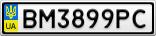 Номерной знак - BM3899PC