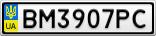 Номерной знак - BM3907PC
