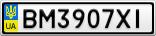 Номерной знак - BM3907XI
