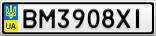 Номерной знак - BM3908XI
