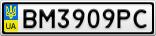 Номерной знак - BM3909PC