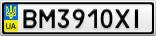 Номерной знак - BM3910XI