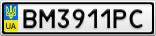 Номерной знак - BM3911PC
