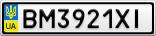 Номерной знак - BM3921XI