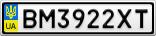 Номерной знак - BM3922XT
