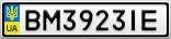 Номерной знак - BM3923IE