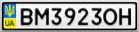 Номерной знак - BM3923OH
