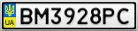 Номерной знак - BM3928PC