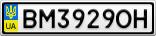 Номерной знак - BM3929OH