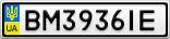 Номерной знак - BM3936IE