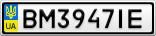 Номерной знак - BM3947IE