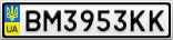 Номерной знак - BM3953KK