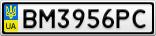 Номерной знак - BM3956PC