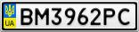Номерной знак - BM3962PC