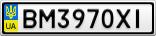 Номерной знак - BM3970XI
