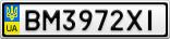 Номерной знак - BM3972XI