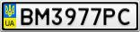 Номерной знак - BM3977PC