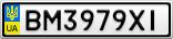 Номерной знак - BM3979XI