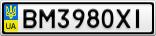 Номерной знак - BM3980XI