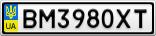 Номерной знак - BM3980XT