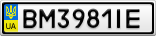 Номерной знак - BM3981IE