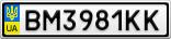 Номерной знак - BM3981KK